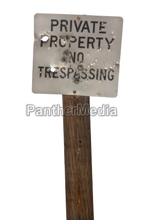 privat loch schuss warnung unterschreiben mahnung
