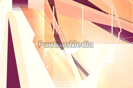 3d fremde abstrakte komposition