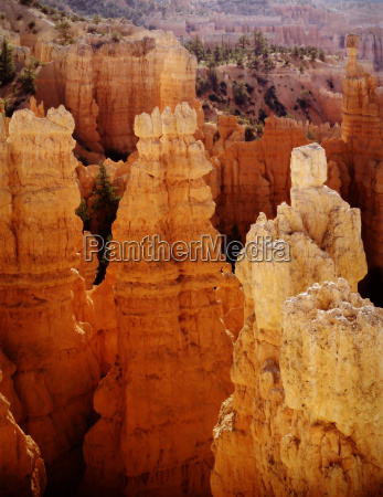 bryce canyon national park tower sonnenaufgang