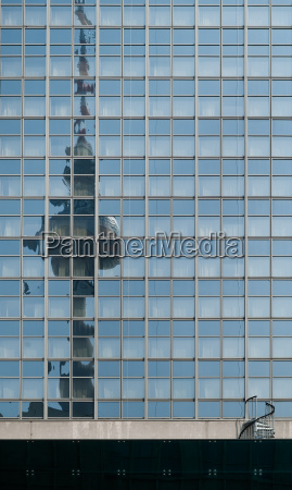 reflection of the tv tower in