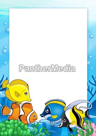 rahmen mit tropischen fischen 1