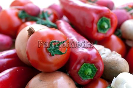 gemuese mix mit paprika tomate
