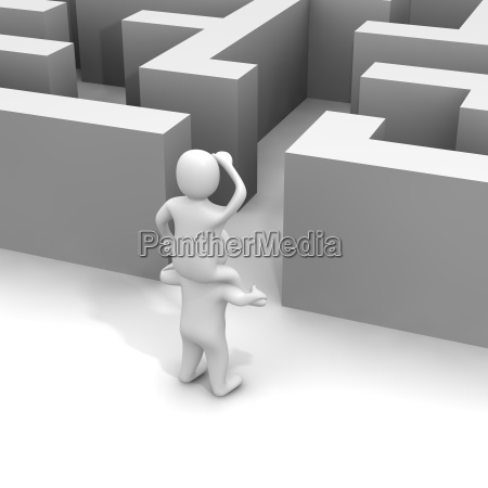 finding weg durch das labyrinth