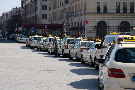 taxis at the hotel