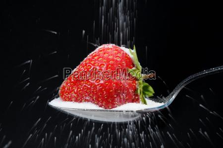 sugar coated strawberry