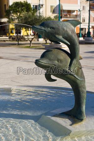 delfinbrunnen in mali loinj