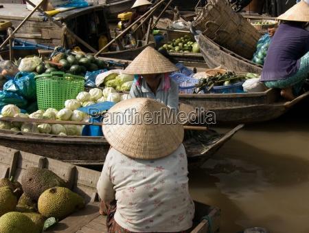 schwimmender marktmekong delta
