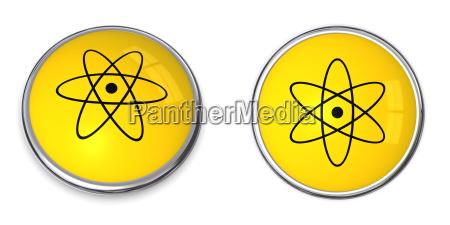 knopf atomare kernsymbol
