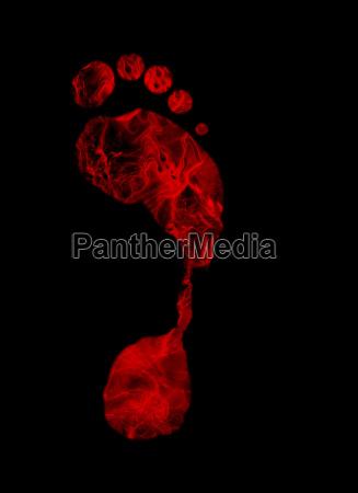 fiery foot print