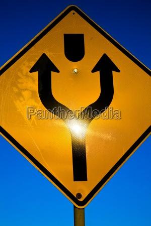 richtungsverkehrszeichen
