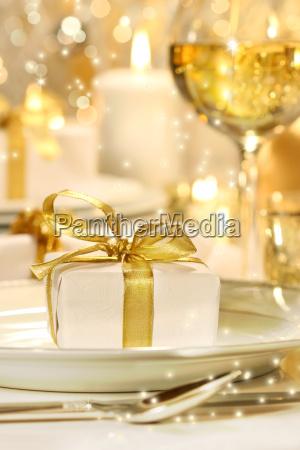 little gold ribboned gift