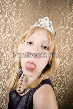 pretty young girl with a tiara