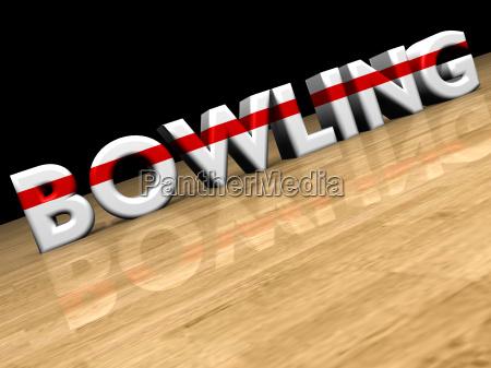 bowling auf holzparkett