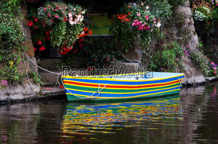 the colourful boat