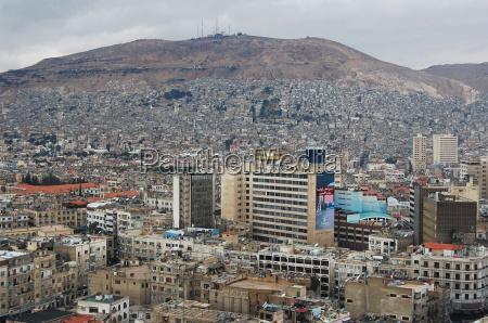 luftaufnahme von damaskus syrien