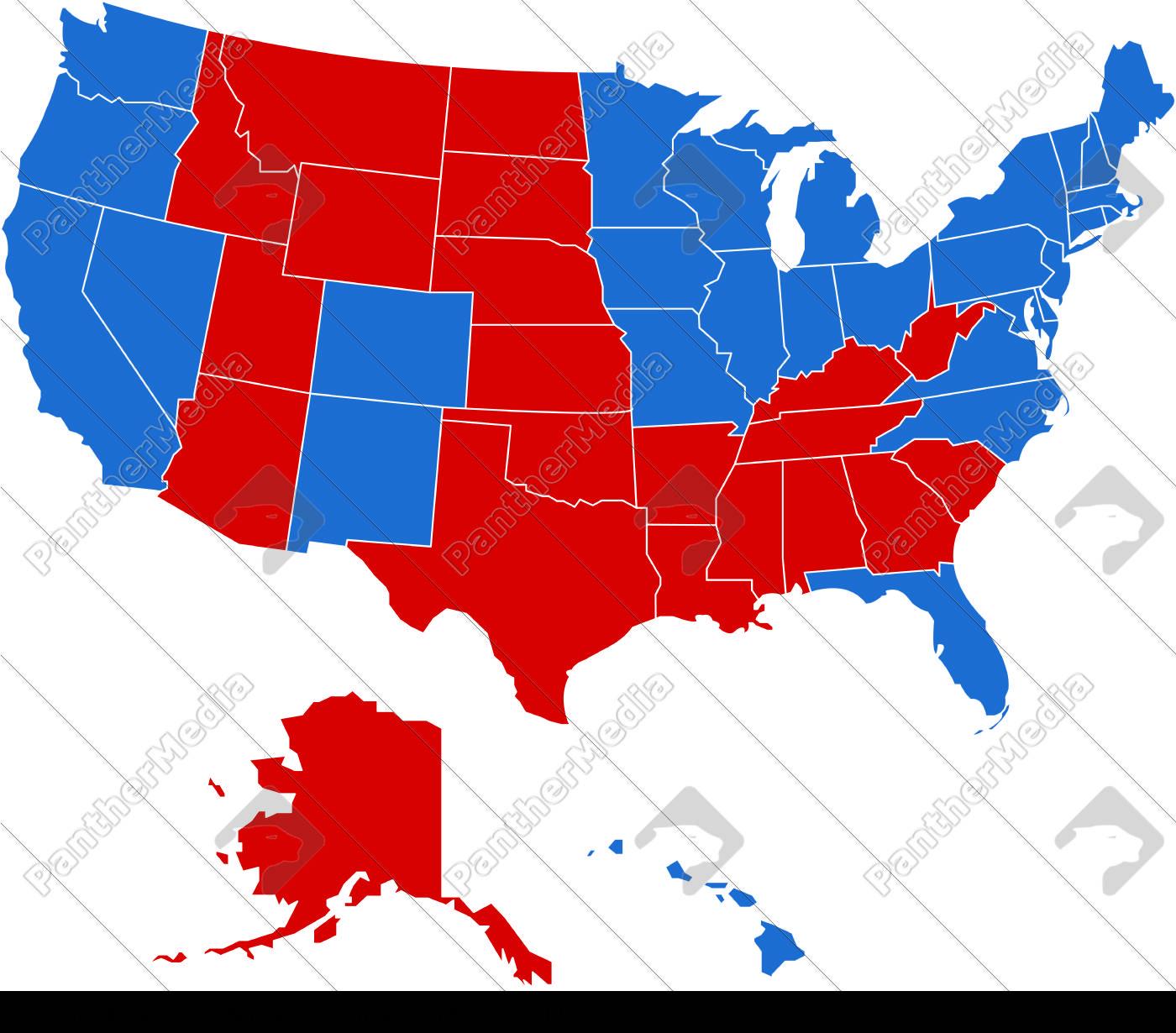 USA Map with Obama States - Lizenzfreies Bild - #2241937 ...