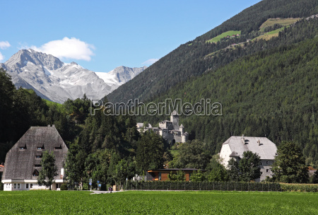 tower mountain scenery countryside nature chateau