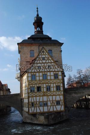bamberg, antikes, altes, rathaus, regnitz - 2335433