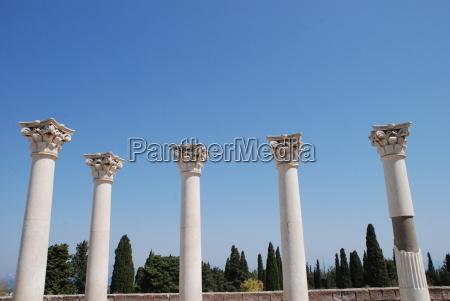 ancient columns kos greece