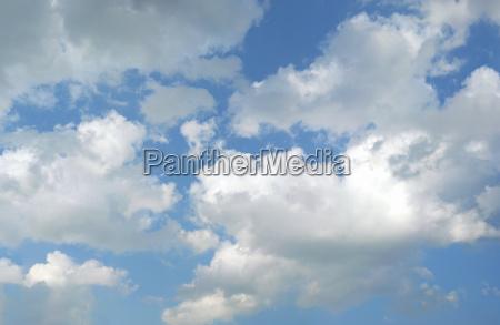 sky with cumulus clouds