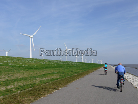 cycling against the wind