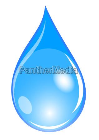 illustration blauer wassertropfen