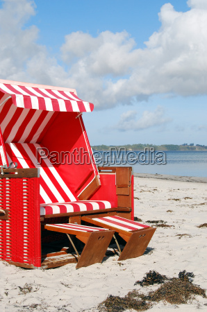 on the beach of glowe
