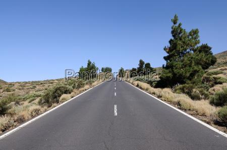 road in tenerife spain