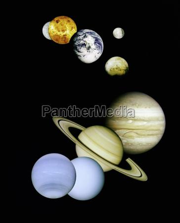 planeten im weltraum