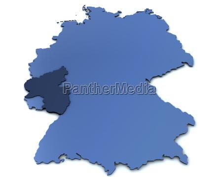 karte von deutschland rheinland pfalz