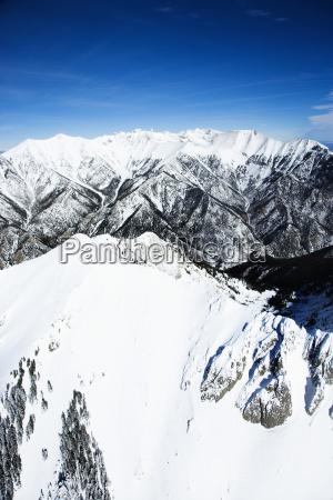schneebedeckte berglandschaft colorado
