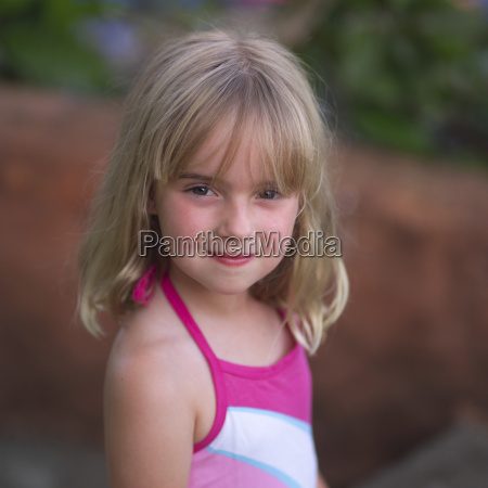 six year old blonde girl