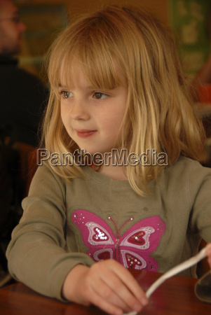 six year old blond girl