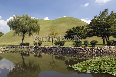 tumuli park in gyeongju south korea
