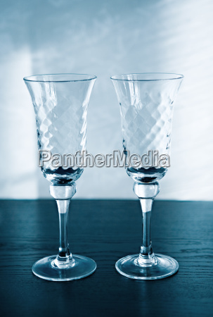 two glasses for a sparkling wine
