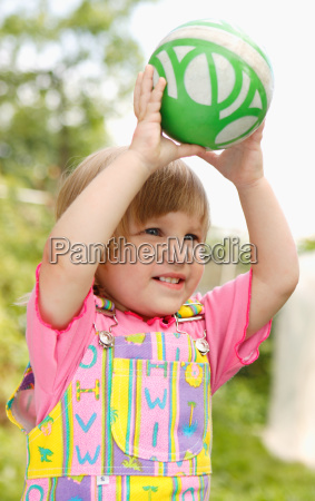 the girl with an ball