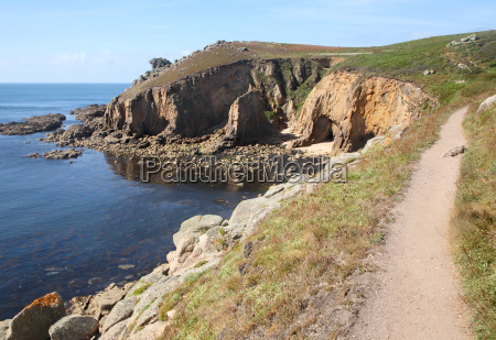 der cornwall kuestenweg nach lands end