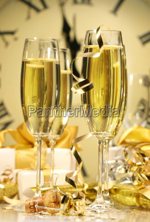 glasses of champagne ready to celebrate