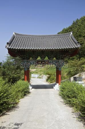 traditional gate south korea