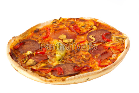 pizza salami freigestellt