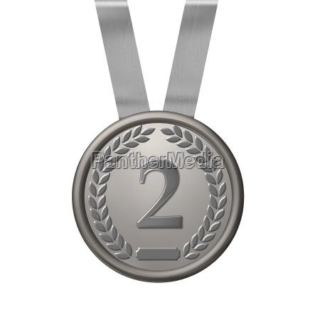 illustration einer silber medaille