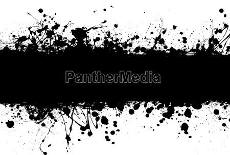 grunge banner ink