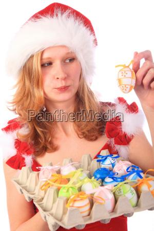 miss santa hat ostereier gefunden