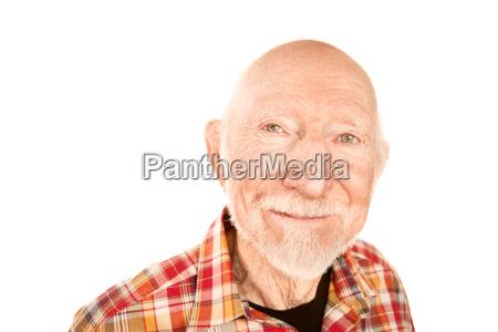 handsome senior mann zwinkert