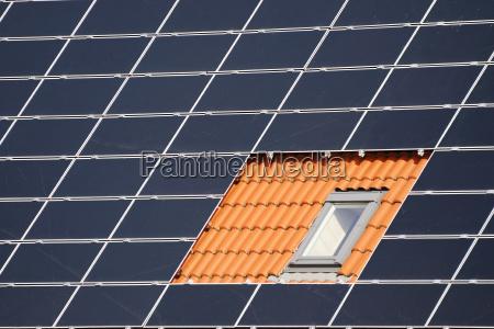 fenster zwischen solarzellen