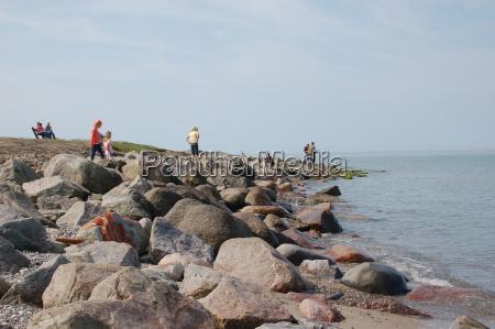 stone beach on fehmarn