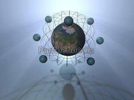 globalisierung 3d background