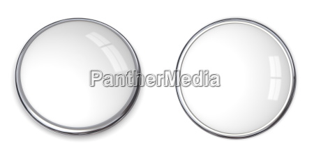 3d button solide weiss