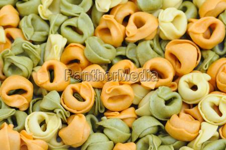 colorful tortellini