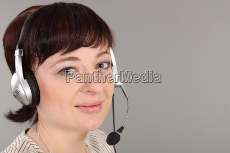 call center agent across